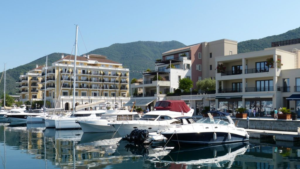 Marina at exclusive property in Montenegro