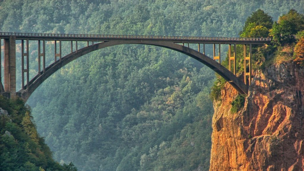 Tara Canyon bridge, deepest canyon in Europe